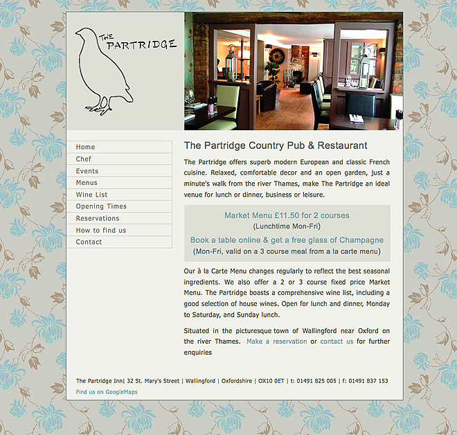 Partridge Inn screenshot